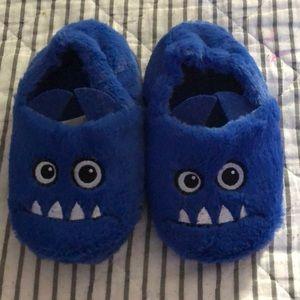 H&M Toddler Blue Monster Slippers